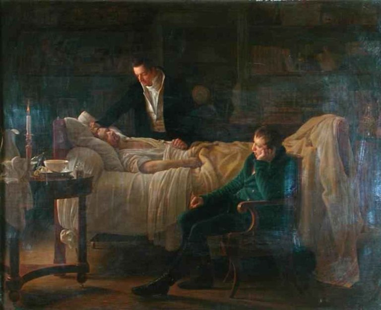 Marie-Francois-Xavier-Bichat-1771-1802-Dying-Surrounded-By-The-Doctors-Esparon-And-Philibert-Joseph-Roux-1780-1854